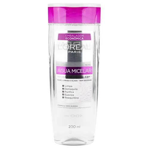 Água Micelar - Solução de limpeza 5 em 1 - L'oréal