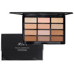 Paleta de Pó 12 Cores - P&W Cosmetics