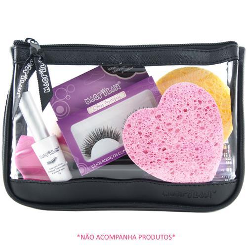 Nécessaire Preta para Maquiagem NE-04A - Macrilan