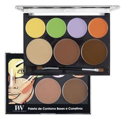 Paleta de Contorno Bases e Corretivos - P&W Cosmetics
