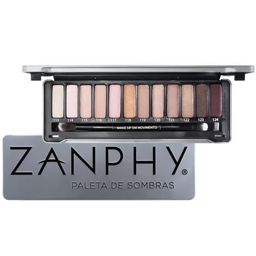 Paleta de Sombras Metallic Prata - Zanphy