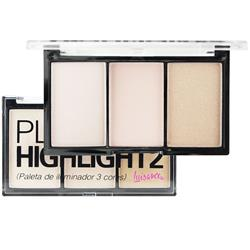 Paleta de Iluminador 3 Cores Play The Highlight2 - Luisance