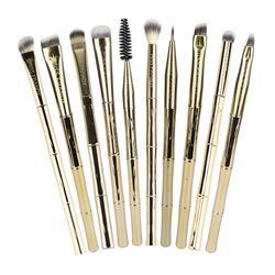 Kit com 10 Pincéis Profissionais para Olhos Linha Bambu - Miss Frandy