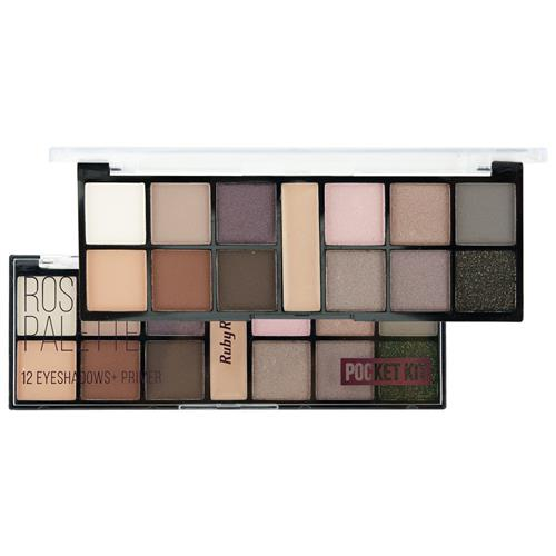 Paleta de Sombras 12 Cores Rose Spirit Pocket - Ruby Rose