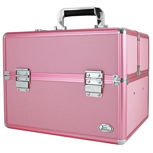 Maleta Profissional de Maquiagem Rosa G - BJH17317 - Jacki Design