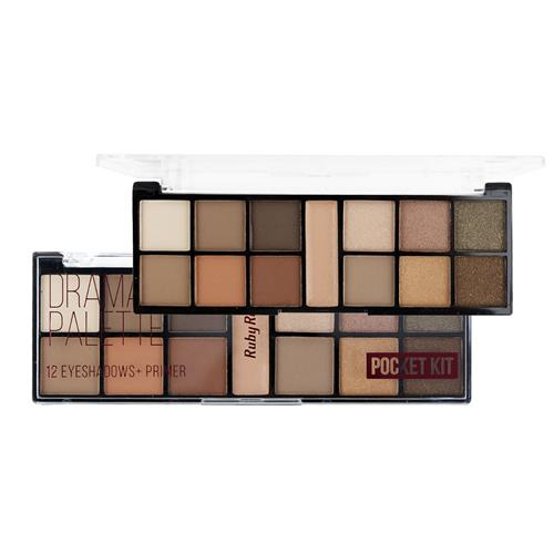 Paleta de Sombras 12 Cores Drama Look Pocket - Ruby Rose