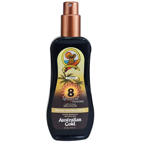 Protetor Solar Spray em Gel FPS 8 Instant Bronzer 237g - Australian Gold
