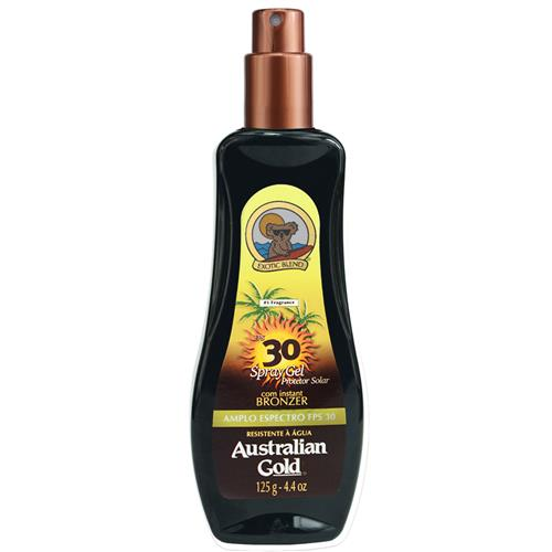Protetor Solar Spray em Gel FPS 30 Instant Bronzer 125g - Australian Gold