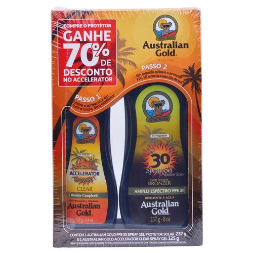 Kit Protetor Solar FPS 30 e Acelerador de Bronzeado - Australian Gold